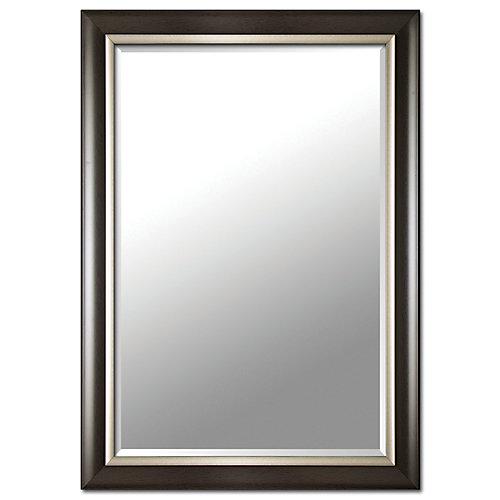 Miroir, 29 po x 41 po, espresso et argent