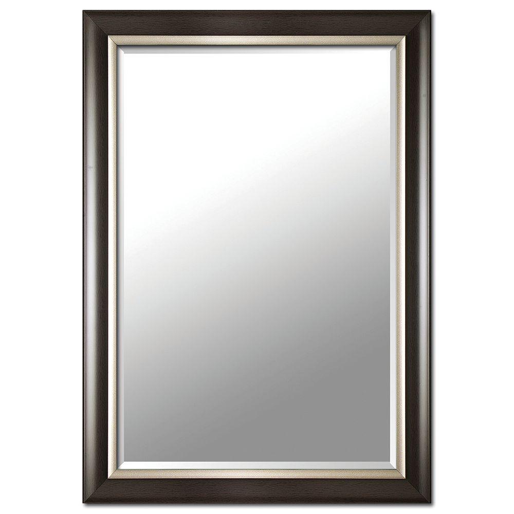 HDG 29-inch x 41-inch Mirror in Espresso/Silver Finish