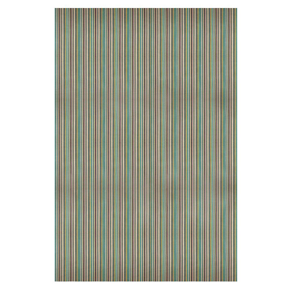 Hampton Bay Monaco Reynolds Teal 6 ft. 6-inch x 8 ft. 8-inch Indoor/Outdoor Area Rug