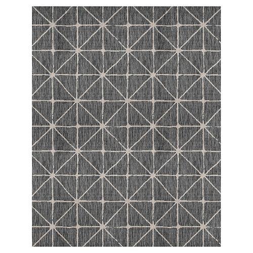 Illusions Shirobi Black 5 ft. 2-inch x 6 ft. 7-inch  Indoor / Outdoor Area Rug