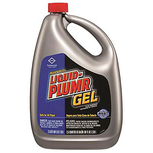Liquid-Plumr Heavy Duty Clog Remover, 80 Oz.