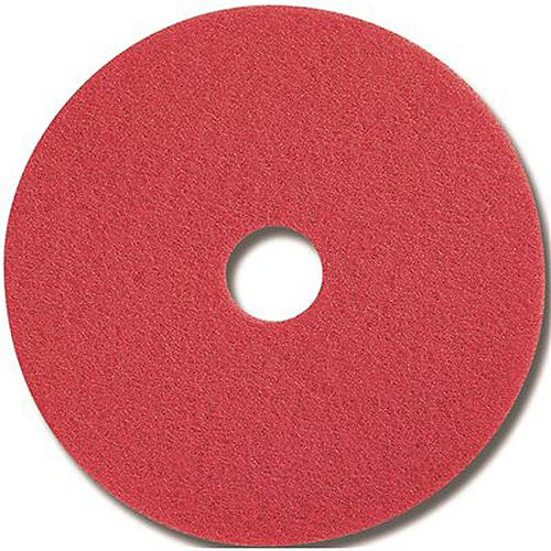 Red Buffing Floor Pad, 13 In.
