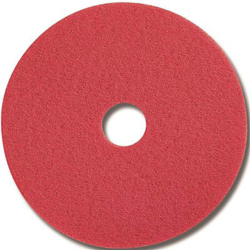 Red Buffing Floor Pad, 16 In.