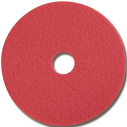 Red Buffing Floor Pad, 20 In.
