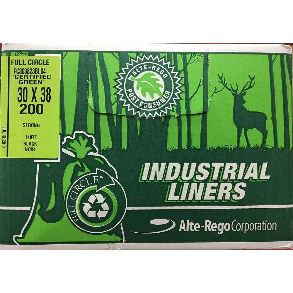 Alte-Rego Corp Garbage Bag Black-Strong, 200-per case