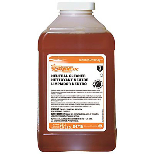 Diversey Stride Citrus Hc 2.5 L Neutral Cleaner J-Fill