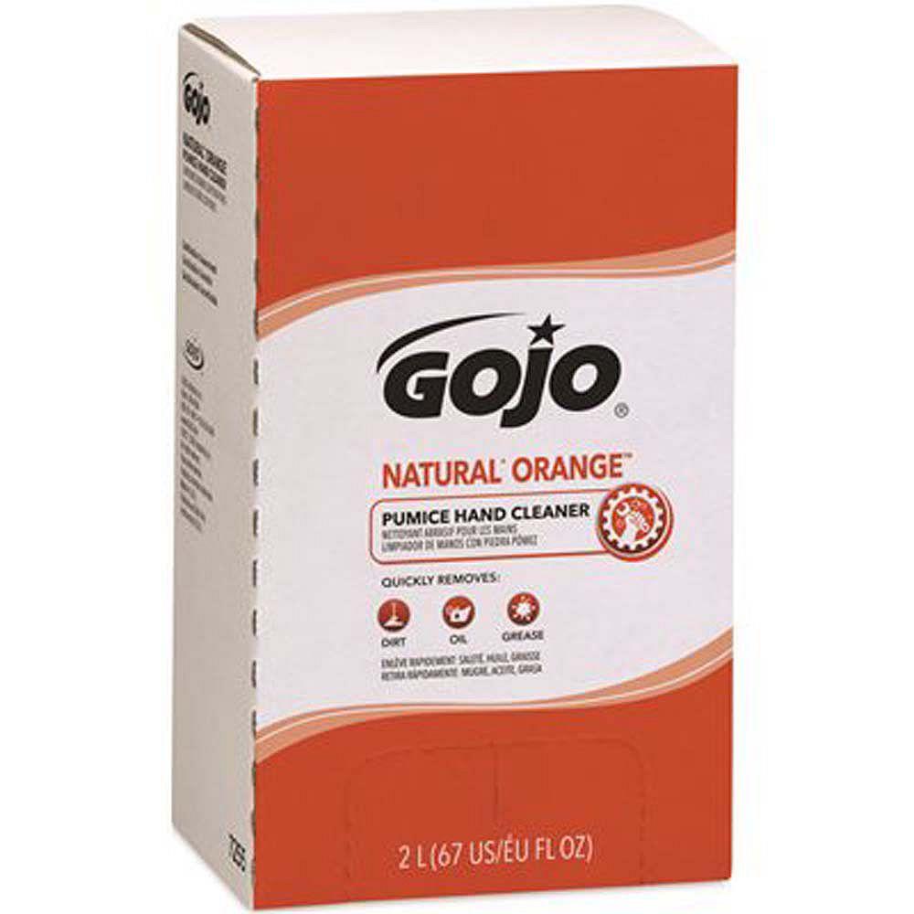 GOJO Recharge Pro TDX De Nettoyant Abrasif Pour Les Mains Natural Orange Original GOJO, 2 000 Ml