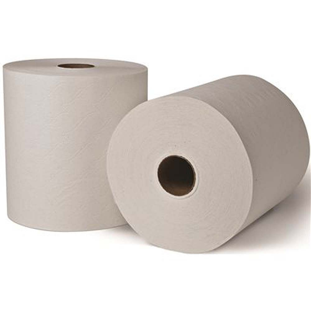 Renown White Advanced 8 inch Controlled High-Capacity Hardwound Paper Towels (6-Rolls per case)