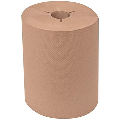 Universal Natural 8 inch Controlled Hardwound Paper Towels (425 Ft./Roll, 12-Rolls/Case)