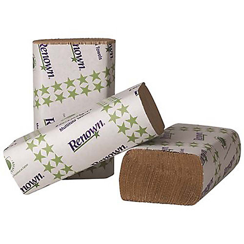 Natural Multifold Paper Towels (250 Sheets Per Pack 16 Packs Per Case)