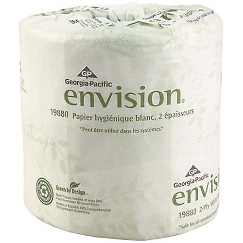 Envision 2-Ply Bathroom Tissue, Toilet Paper, White (80-Rolls Per Case)