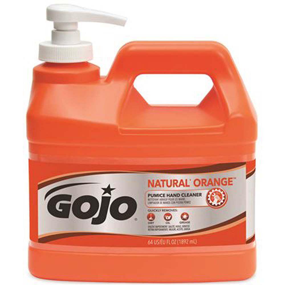 GOJO Orange Original Pumice Hand Soap Pump, 0.5 Gal.