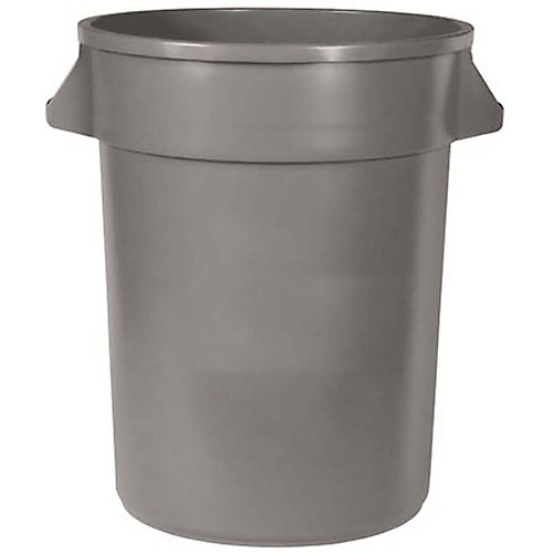 20 Gal. Trash Can With Handles, Gray
