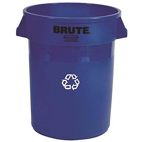 Brute 32 Gal. Blue Round Indoor Recycling Bin