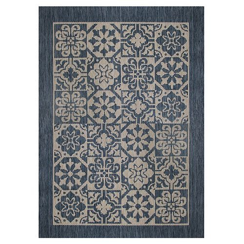 Illusions Calderon Blue 5 ft. 2-inch x 6 ft. 7-inch Indoor / Outdoor Area Rug