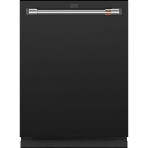 24-inch Top Control Built-In Dishwasher with Stainless Steel Interior in Matte Black