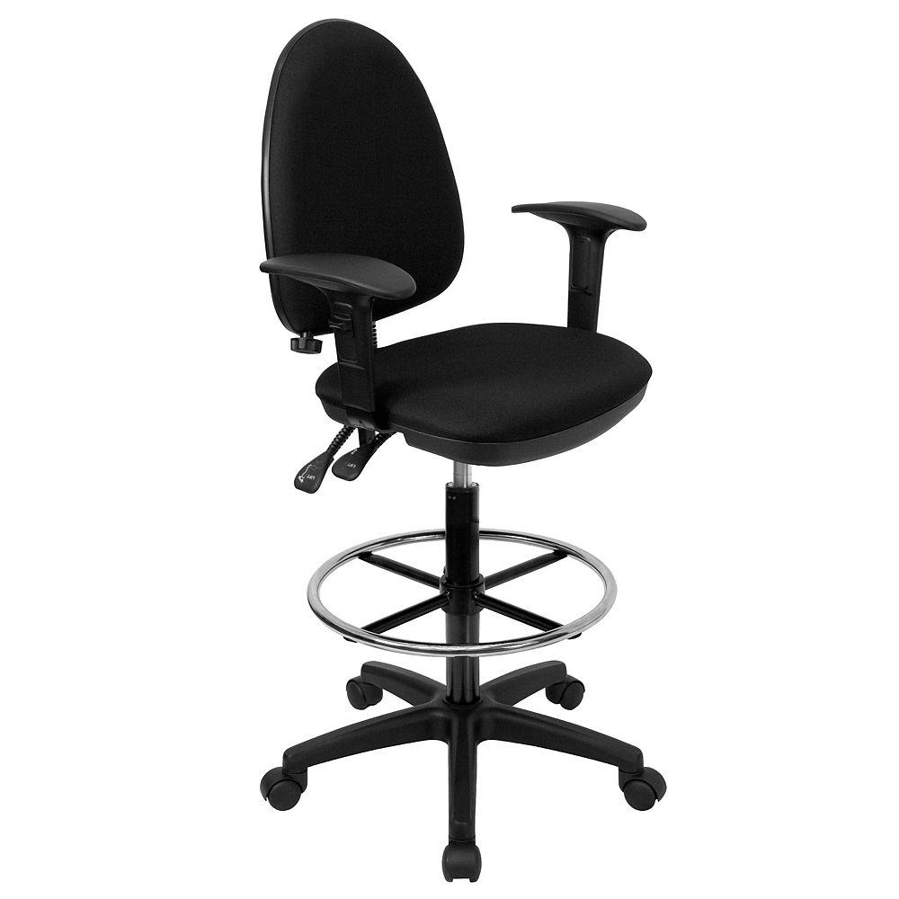 Flash Furniture Chaise noire pour 400 lb à dossier haut d'usage intensif