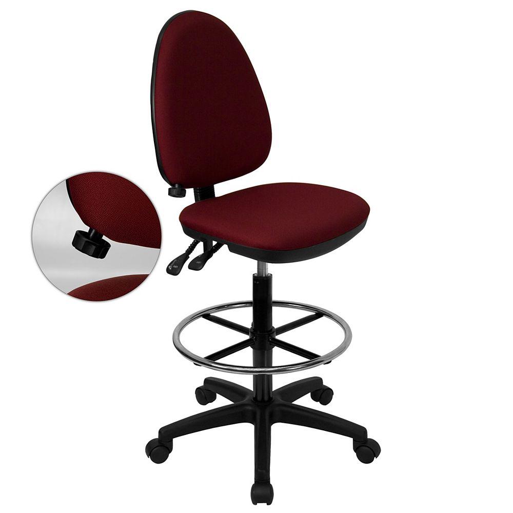Flash Furniture Burgundy Fabric Draft Chair