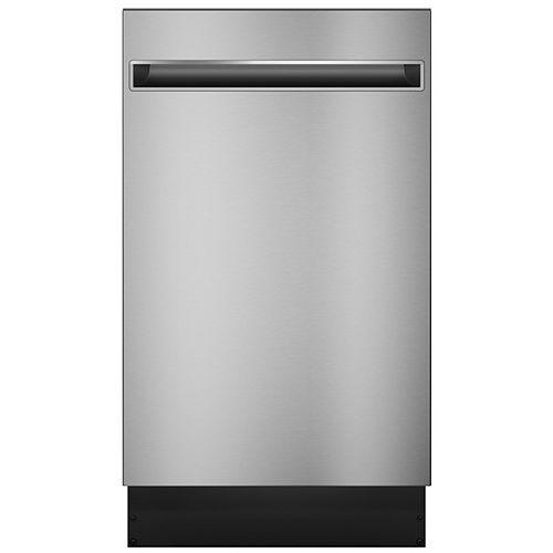 Lave-vaisselle encastré à commande supérieure de 18 po avec intérieur en acier inoxydable en acier inoxydable