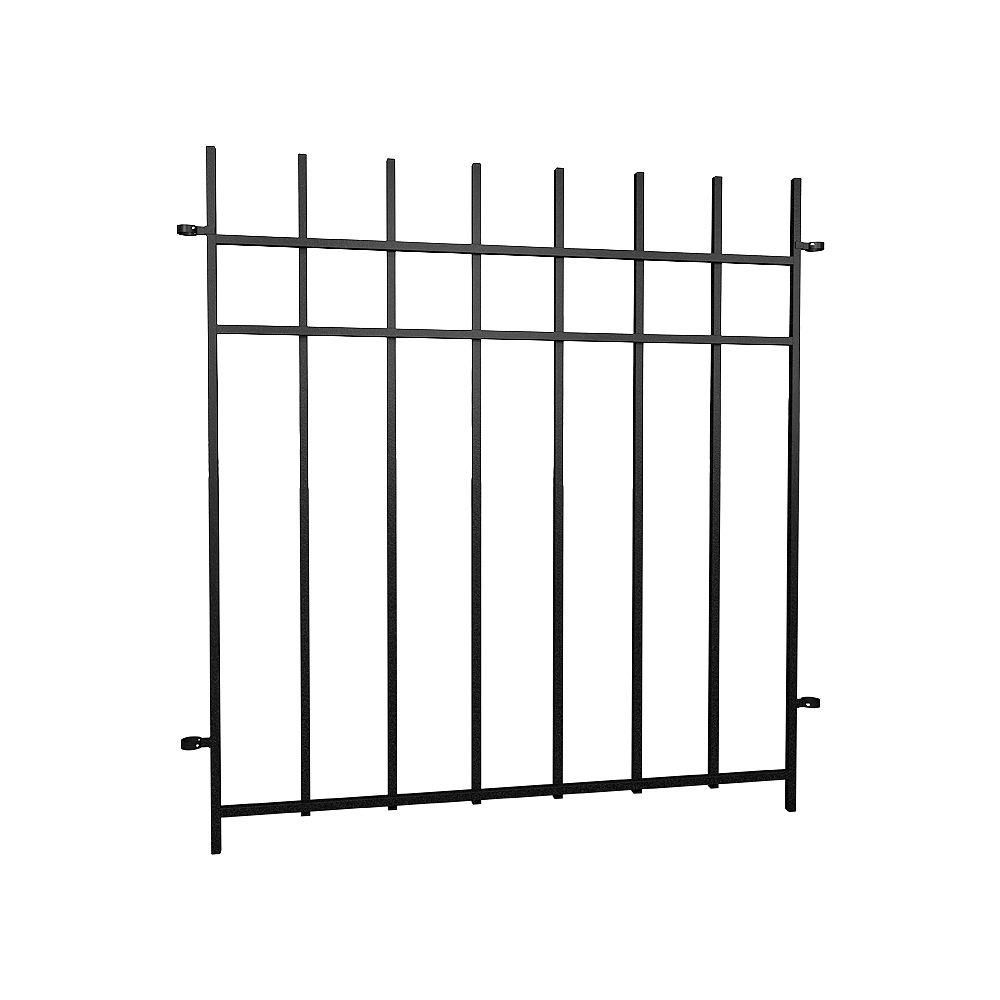 Peak Products Dig-Free Fencing 'Niagara' 34 1/4-inch W x 3 ft. H Steel Fence Panel in Black