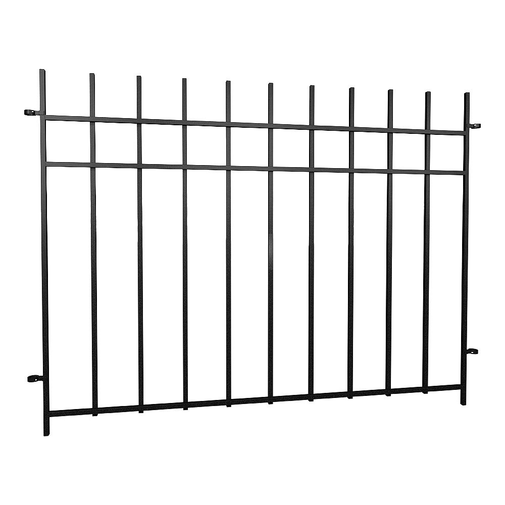 Peak Products Dig-Free Fencing 'Niagara' 4 ft. W x 3 ft. H Steel Fence Panel in Black