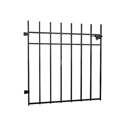 Peak Products Dig-Free Fencing 'Niagara' 33 1/2-inch W x 3 ft. H Steel Fence Gate in Black