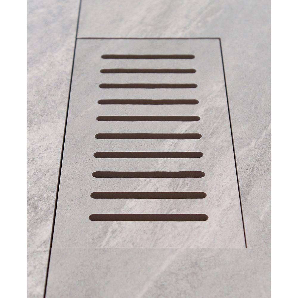 DGM Enterprises Made2Match Elaine Riverstone Grey 5-inch x 11-inch Flush Mount Porcelain Tile Vent