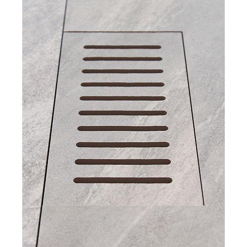 Made2Match Elaine Riverstone Grey 5-inch x 11-inch Flush Mount Porcelain Tile Vent