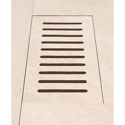 Made2Match Elaine Riverstone Sand 5-inch x 11-inch Flush Mount Porcelain Tile Vent