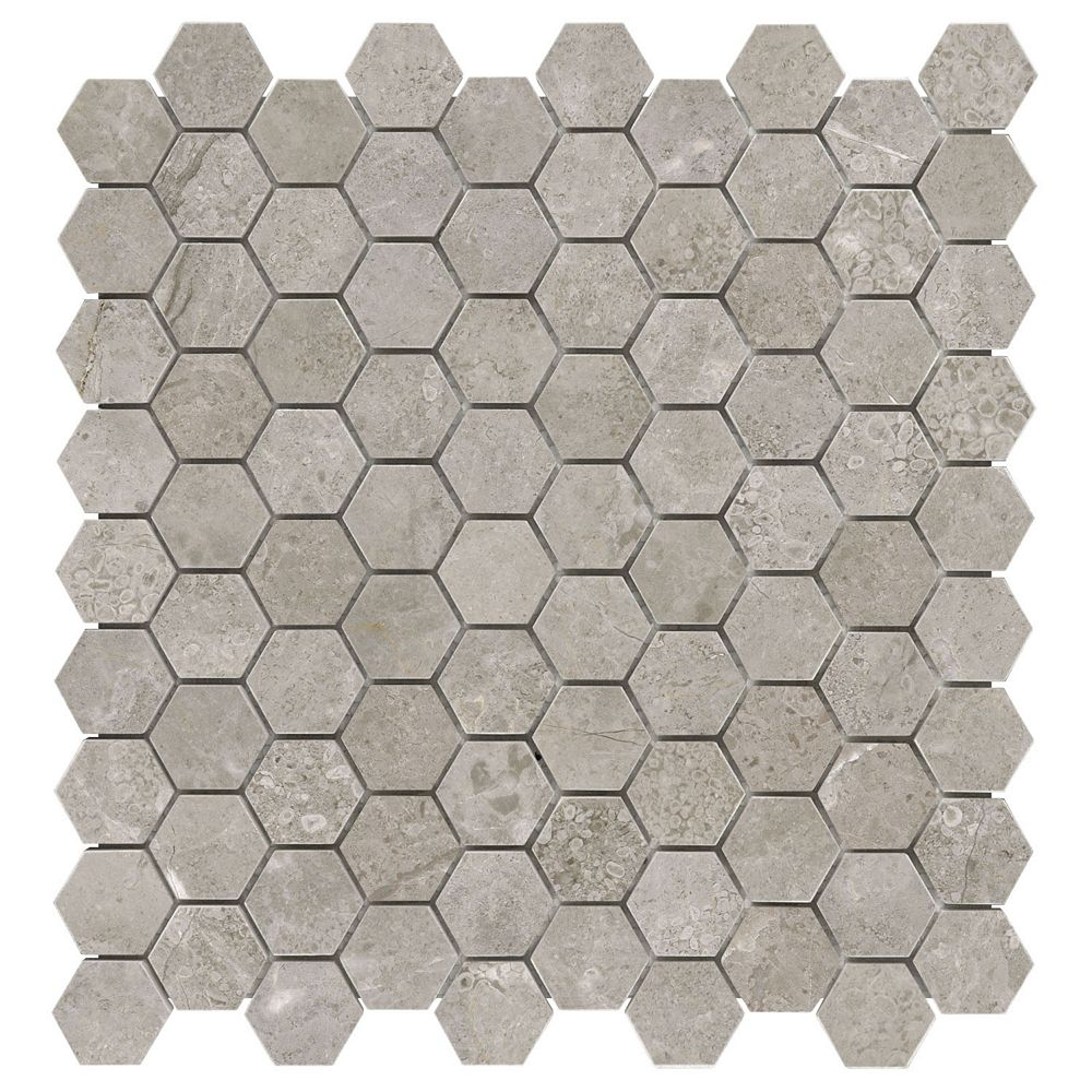 Enigma Salo 1.25-inch x 1.25-inch Hexagon Honed Marble Mosaic Tile (10 sq.ft. / case)