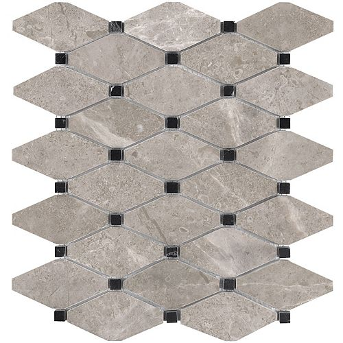 Enigma Salo 10.5-inch x 12-inch Clipped Diamond Honed Marble Mosaic Tile (9 sq.ft. / case)