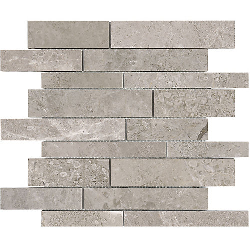 Salo 12-inch x 12-inch Random Strip Polished Marble Mosaic Tile (10 sq.ft. / case)