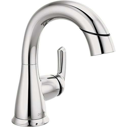 Broadmoor 4-inch Centerset Single-Handle Pull-Down Bathroom Faucet in Chrome
