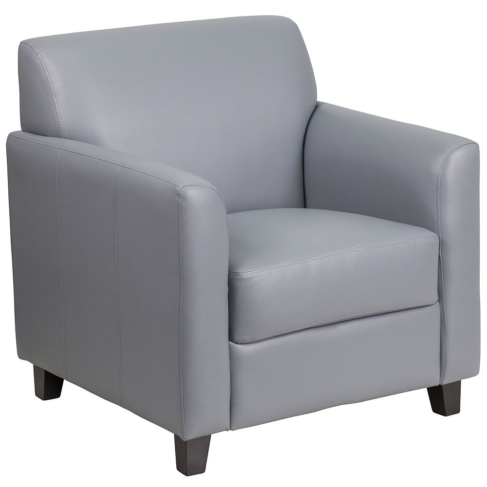 Flash Furniture HERCULES Diplomat Series Gray Leather Chair