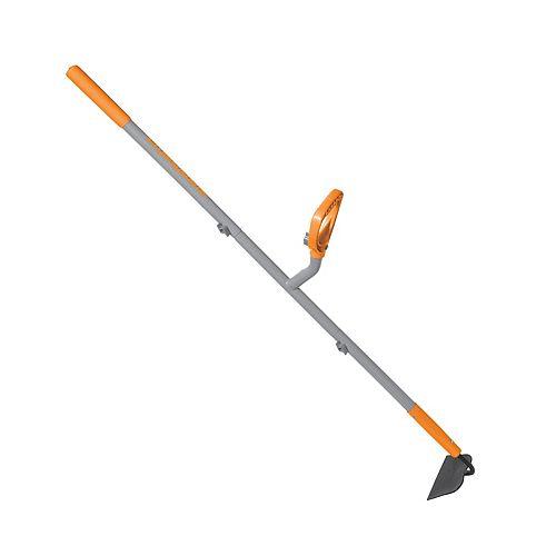 Ergie Systems ERG-GHOE625 Shank Pattern Garden Hoe  12 Gauge  54-Inch Shaft  6.25-Inch Blade