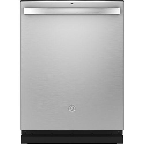 Lave-vaisselle encastrable à cuve haute de 24 po à commande supérieure avec 3e panier et nettoyage à la vapeur en acier inoxydable