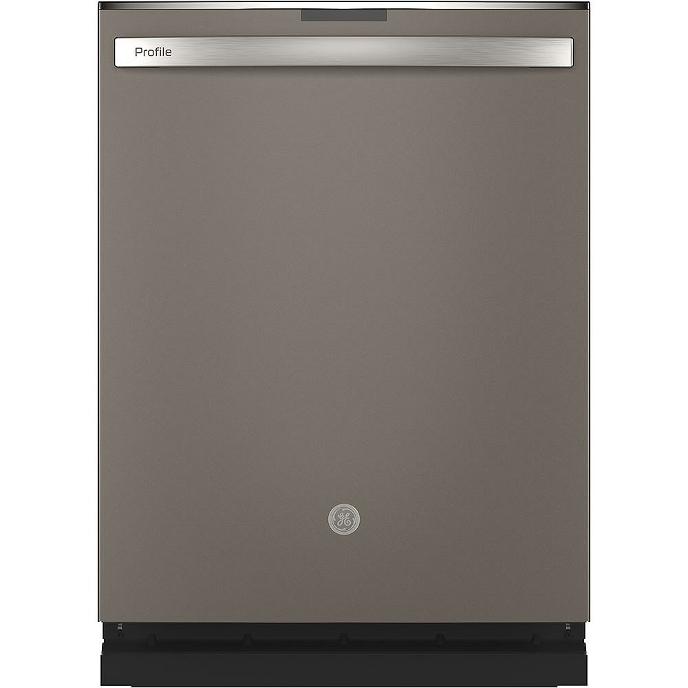 GE 24-inch Top Control Built-In Dishwasher with Stainless Steel Tall Tub in Slate