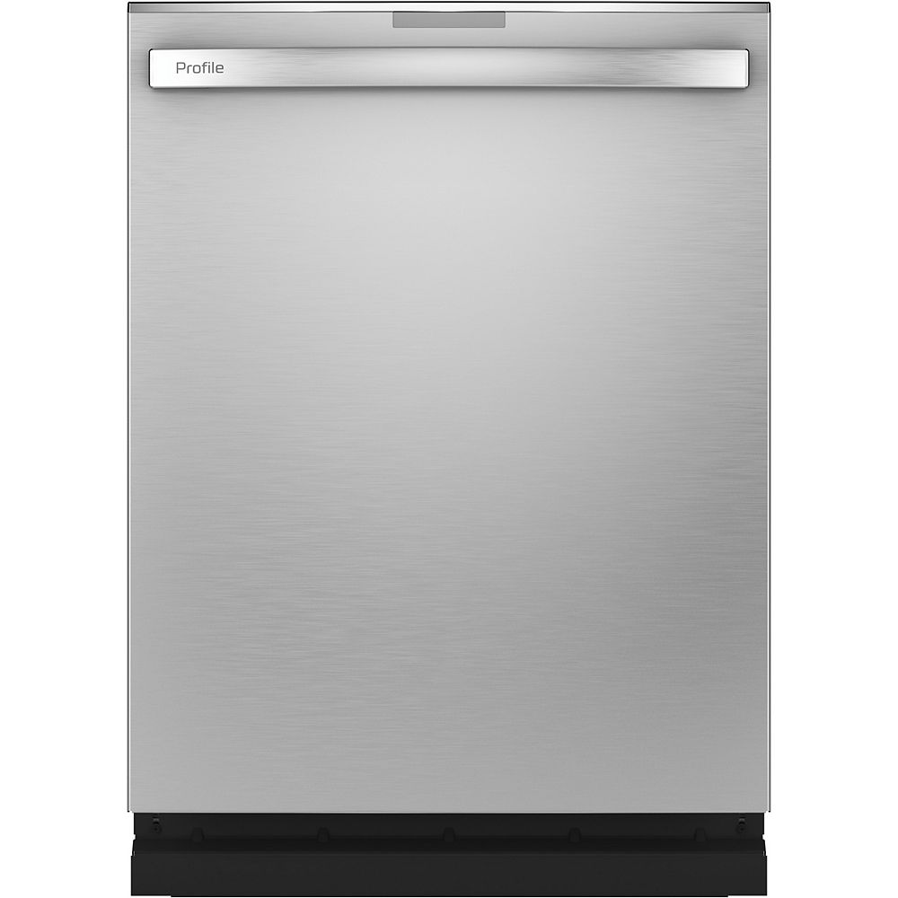 GE 24-inch Top Control Built-In Finrprint Resistant Dishwasher with 3rd Rack and 45 dBA in Stainless Steel