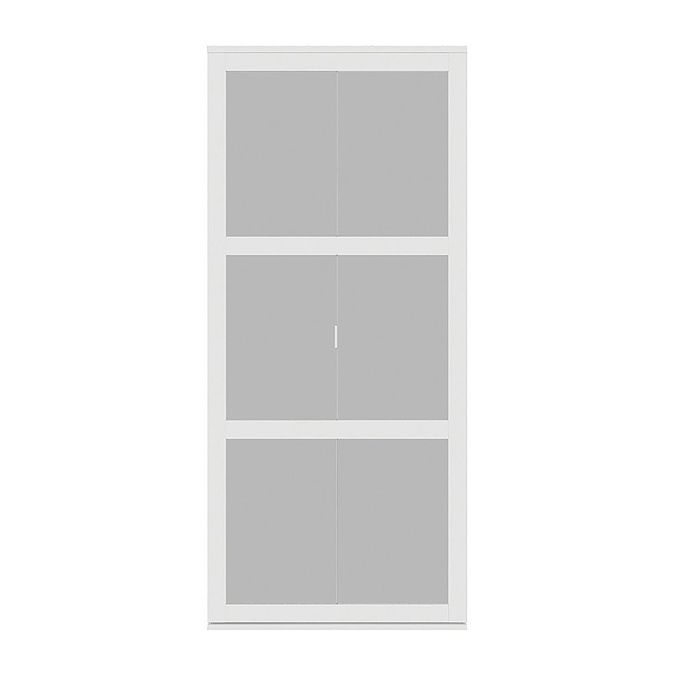 Indoor Studio 3 Lite Indoor Studio 30 po X 80.5 po Porte Pliante en cadre MDF avec fini vinyl et verre givré
