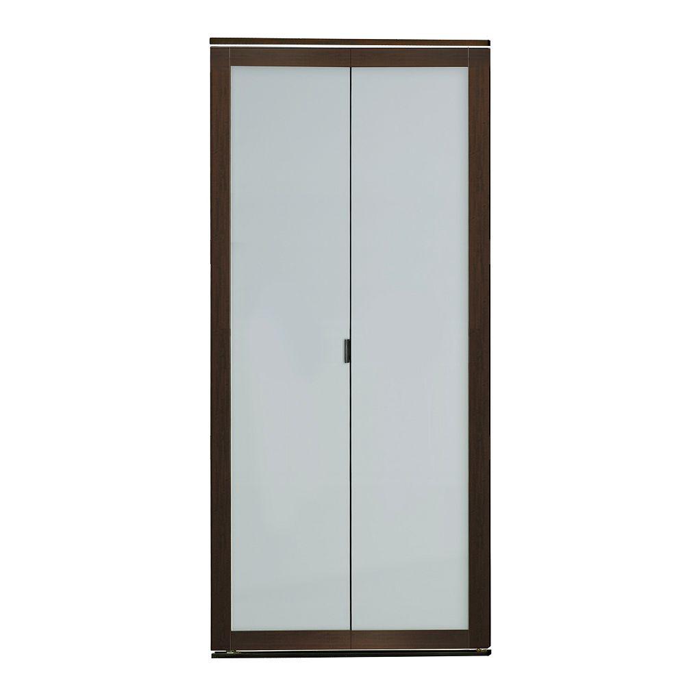 Indoor Studio 1 Lite Indoor Studio 36 po X 80.5 Porte Pliante en cadre MDF avec fini vinyl et verre givré