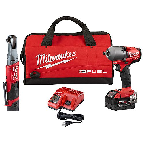M12 FUEL 3/8-inch Ratchet and 1/2-inch Fuel Midtorque Impact Wrench Kit