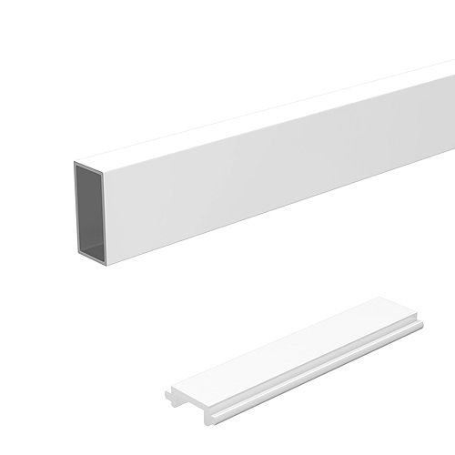 Peak Railblazers 6 ft. Aluminum Deck Railing Wide Pickets and Spacers in White