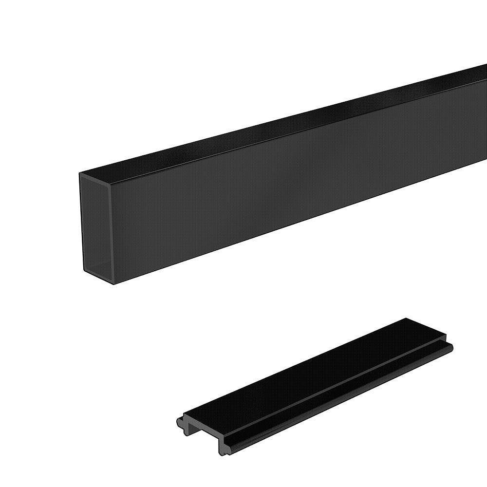 Peak Railblazers 6 ft. Aluminum Deck Railing Wide Pickets and Spacers in Matte Black