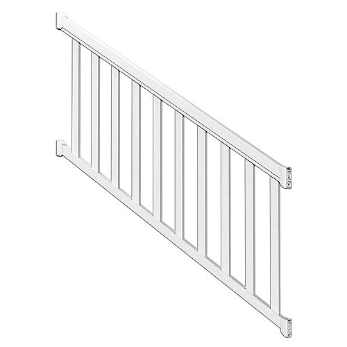 Peak Railblazers 6 ft. White Stair Rail Kit with Wide Pickets