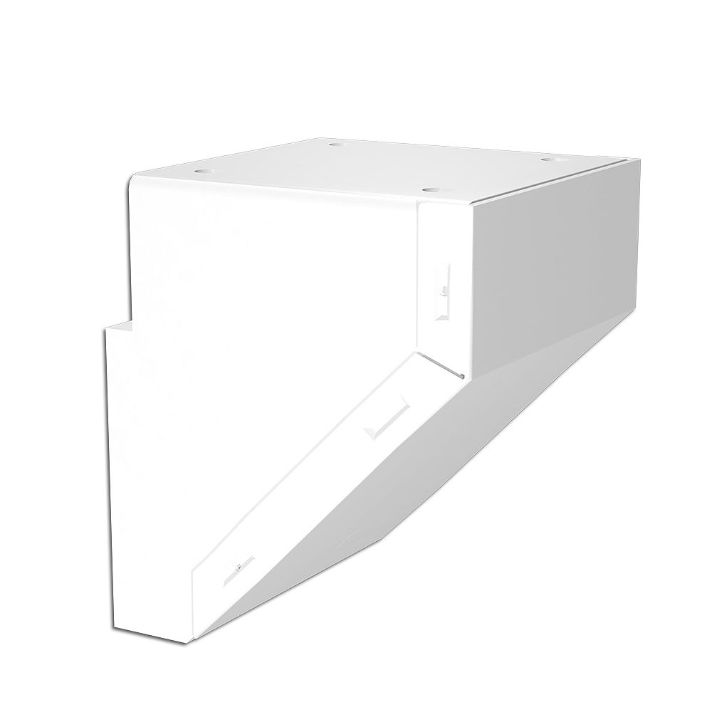 Peak Railblazers Aluminum Deck Railing Mid/End/Stair Fascia Mount Bracket in White
