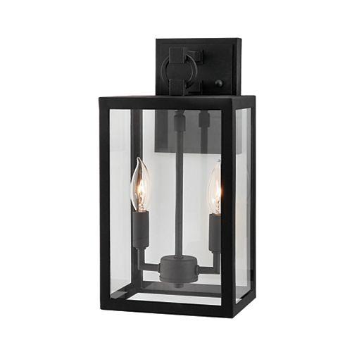 Exterior Candelabra Rectangle Classic black Outdoor Light