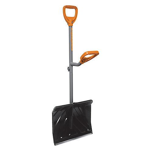 Steel Shaft Impact Resistant Snow Shovel  18-inch Shovel  48-inch Shaft  Push/Scoop Blade