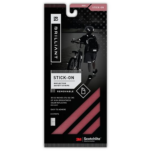 Reflective Strips Stick-On Red (8 Strips)