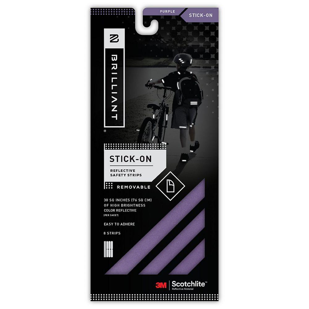 Brilliant Reflective Strips Stick-On Purple (8 Strips)