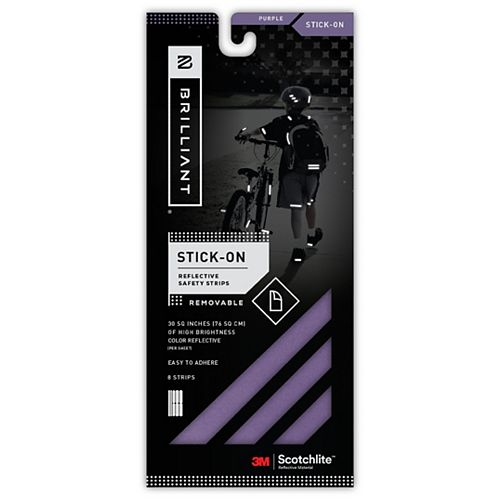 Reflective Strips Stick-On Purple (8 Strips)